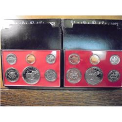 1977 & 1978 US PROOF SETS (WITH BOXES)