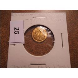 8-10KT GOLD 1870 ITALY 5 LIRE MINI MEDAL