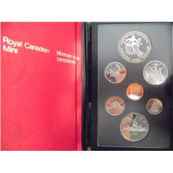 1983 CANADA DOUBLE DOLLAR PROOF SET EDMONTON SILVER, ORIGINAL ROYAL CANADIAN MINT PACKAGING
