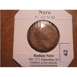 54-68 A.D. NERO ANCIENT COIN