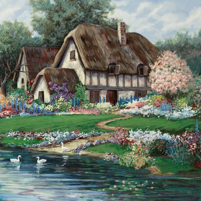 English Farmhouse By Earlene Moses