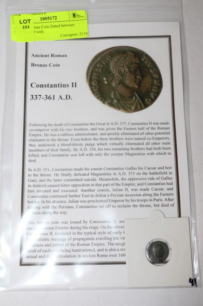 roman coins dating