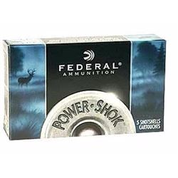 "*AMMO* FEDERAL F1314B Power Shok Buckshot 12 ga 3"" 41 Pellets 4 Buck (150 ROUNDS) 029465009670"