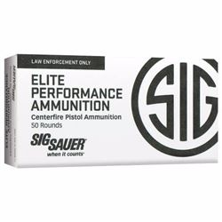 *AMMO* Sig Sauer E9MMA2-50 V-Crown 9mm 124 GR JHP (500 ROUNDS) 798681501731