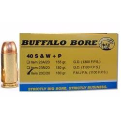 (WC) BUFFLO BR 40SW+P 180GR FMJ-FN (200 ROUNDS) 651815023038