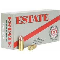 ^AMMO^ Estate ESH9115 Range 9mm Full Metal Jacket 115GR ( 500 ROUNDS ) 029465063801