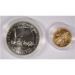 1987 U.S. CONSTITUTION 2 PIECE SET $5 GOLD AND SILVER DOLLAR BU