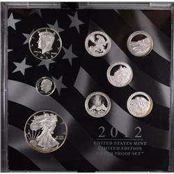2012 U.S. MINT LIMITED EDITION SILVER PROOF SET, BOX / COA- RARE
