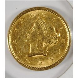 1851 $1 GOLD LIBERTY DOLLAR AU