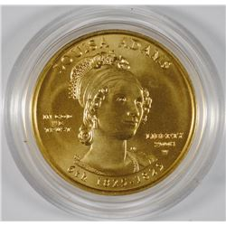 LOUISA ADAMS $10 GOLD SPOUSE COIN - 1/2 oz FINE GOLD - GEM BU