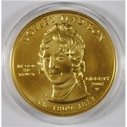 DOLLEY MADISON $10 GOLD SPOUSE COIN - 1/2 oz FINE GOLD - GEM BU