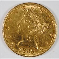 1885 $5 GOLD LIBERTY - BU -  VERY PRETTY