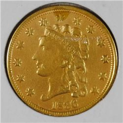 1836 $2.50 CLASSIC GOLD  VF-XF