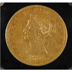 1854-S $10 GOLD LIBERTY  VF-XF RARE COIN!