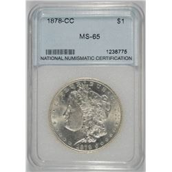 1878-CC MORGAN SILVER DOLLAR NNC GEM BU - SCARCE!