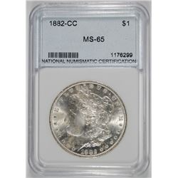 1882-CC MORGAN SILVER DOLLAR NNC GRADED GEM BU++