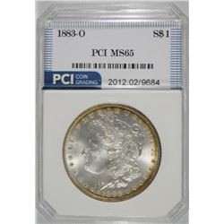 1883-O MORGAN SILVER DOLLAR PCI  GEM UNC