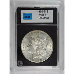 1899-S MORGAN SILVER DOLLAR, CCGS GEM BU+  SEMI-KEY