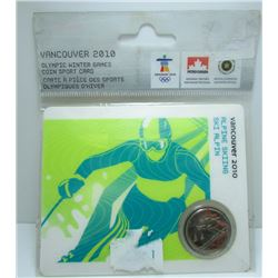 2010 Canada Vancouver Olympics Alpine Skiing Quarter On Collector Card