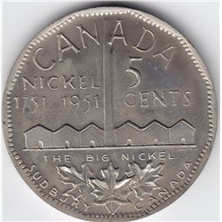 1951 Canada Oversized Commemorative Nickel