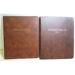 2 Previously Used Canadian Coin Collector Books
