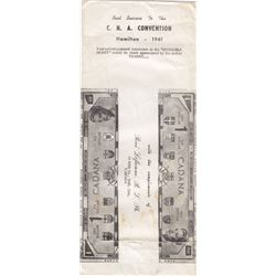 1961 Canadian C.N.A Convention - Hamilton - Reversible Money Notes