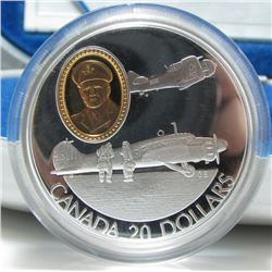 1990 Canada Sterling Silver $20 Coin - The Anson and the Harvard - By RCM