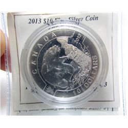2013 Canada $10 Fine Silver Coin - The Beaver - By RCM