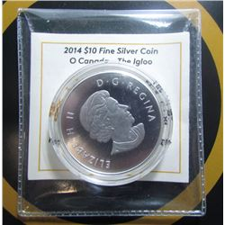 2014 Canada $10 Fine Silver Coin - The Igloo - By RCM