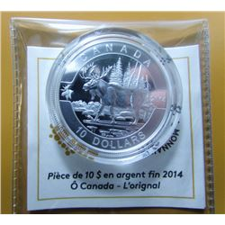 2014 Canada $10 Fine Silver Coin - Moose - By RCM
