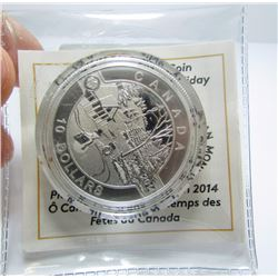 2014 Canada $10 Fine Silver Coin - Canadian Holiday Scene - By RCM
