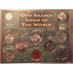 Odd shape coins of the world