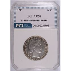 1895 BARBER HALF DOLLAR, PCI AU/BU  WHITE