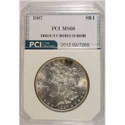 1887 MORGAN SILVER DOLLAR, PCI SUPERB GEM