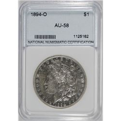 1894-O MORGAN SILVER DOLLAR, NNC AU/UNC  SEMI-KEY