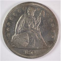 1871 SEATED LIBERTY DOLLAR XF