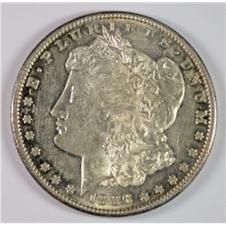 1886-S MORGAN SILVER DOLLAR, CHOICE BU