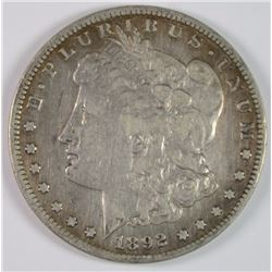 1892-S MORGAN SILVER DOLLAR VF+
