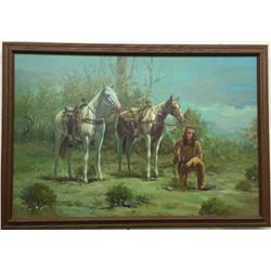 Original Oil on Canvas by Don Powell