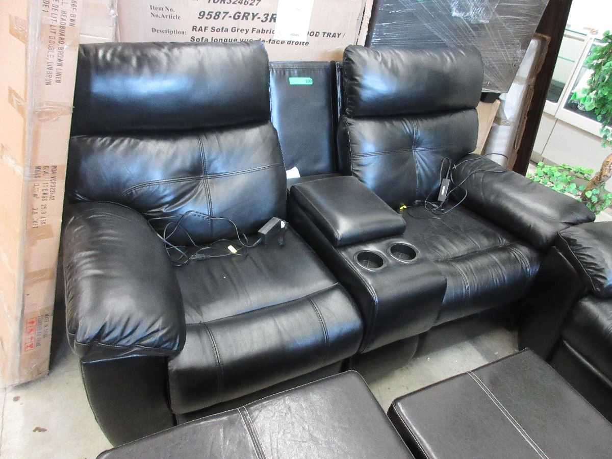 New Power Reclining Loveseat With Console Center