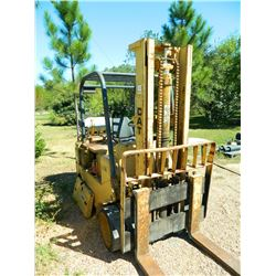 "Caterpillar T120C 12,000 Pound Forklift, Two-Stage Mast, 107"" Max Lift Height, LPG Engine."