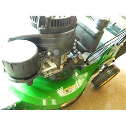 "John Deere WE80 Self Propelled Walk Behind Mower with Bag and Mulcher, 21"", LIKE NEW, USED 3 TIMES"