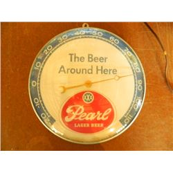 "OLD 12"" Pearl Beer Thermometer, Made in 1961 by Pam Clock Co. New Rochelle, New York. Oustanding"
