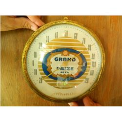 "OLD 9.25"" Grand Prize Beer Thermometer, We Will Ship This Item! Gulf Brewing, USA. Nice!"