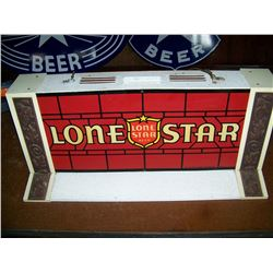 "OLD Lone Star Beer Pool Table Light, 27""x14""x12"", Works as Shown, NO Shipping, Pick-Up Only"