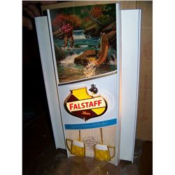 Falstaff Beer, OLD NEW STOCK, Toasting Mug Sign with Movement! Original Box, We Will Ship!