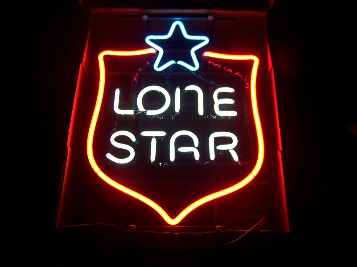 OLD-NEW STOCK! Lone Star Badge NEON Beer Sign, Unused, 16