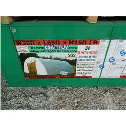 UNUSED SUIHE 306515R 30 Ft x 65 Ft x 15 Ft  Dome Storage Shelter Storage Building. NO Shipping