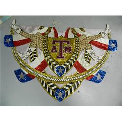 Rare Hand Made Texas A&M, Texas Aggies, Parade Cape? Homecoming Queen Cape? 1000's of sequences