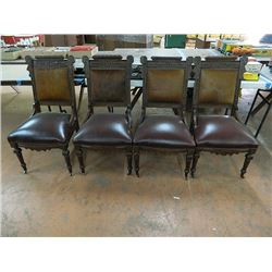 Four (4) Cowhide Back 19th Century Chairs, Victorian. All One Money, No Shipping, Pick-Up Only